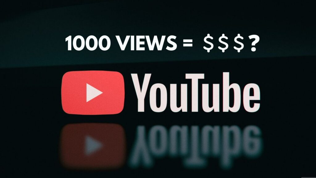 How Much YouTube Pay For 1000 Views In India